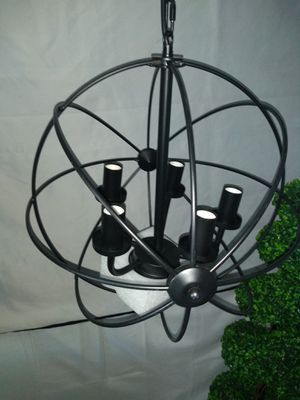 "Black Chandelier NEW 16"" Round Orb Light Hanging pendant kitchen for Sale in Rialto, CA"
