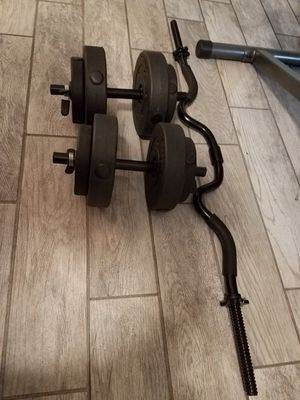 Work out bench, 40lbs weights and mat. for Sale in Fort Lauderdale, FL