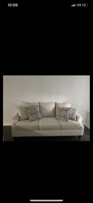 Beige couches. Pillows included for Sale in Clinton, TN