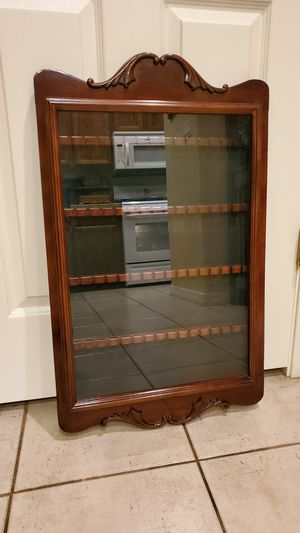 Large Bombay Company Glass Case Souvenir Collectable Spoon Rack for Sale in Goodyear, AZ