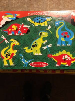 6 Melissa and Doug Peg Puzzels for Sale in Norwood, MA