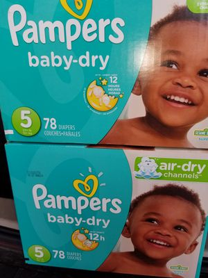 Pampers size 5,$20.00 each box for Sale in Blacklick, OH