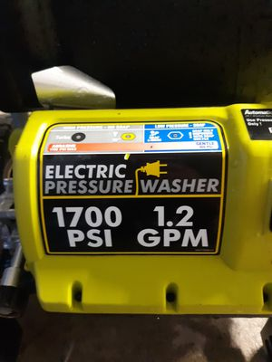 Ryobi pressure washer for Sale in Phoenix, AZ