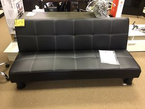 NEW POST! ZBD SALE- Venetian Worldwide Quinn Faux Leather Futon Sofa, Black for Sale in Duluth, GA