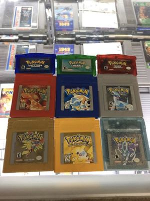 Pokémon games $30-$70 each Gamehogs 11am-7pm for Sale in East Los Angeles, CA