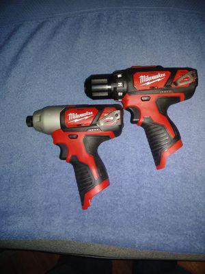 Milwaukee drill and impact gun for Sale in Virginia Beach, VA