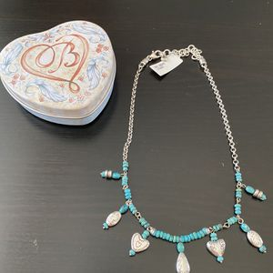 Brighton Silver and Turquoise Style Necklace for Sale in Phoenix, AZ