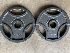 Pair of 25 lb Olympic Weight Plates for Sale in Fairfax, VA