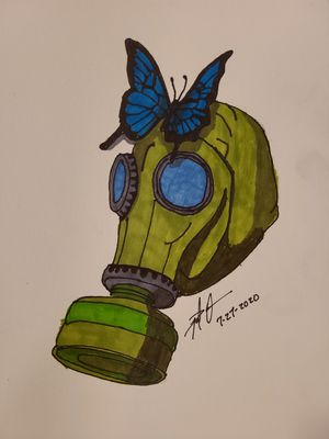 Gasmask and Butterfly for Sale in Gilmer, TX