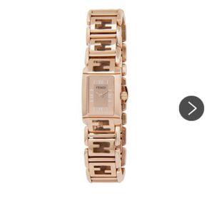 Rose Gold Fendi Stainless Steel Quardo Logo Link Watch for Sale in Houston, TX