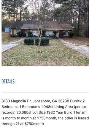 🏡💰☎️🔥 for Sale in Jonesboro, GA