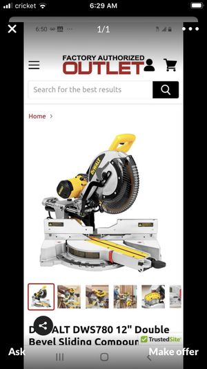 "Dewalt DWS780 12"" miter saw for Sale in Woodside, CA"