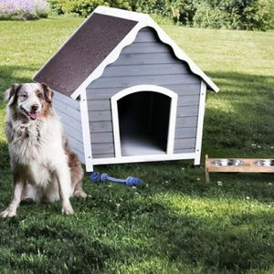 Transitional Wood Medium Pet House in Gray and white for Sale in Ontario, CA