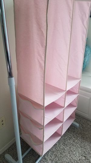 Kids pink closet organizers for Sale in Beavercreek, OR