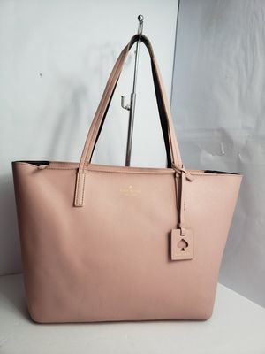 Authentic Kate♠️ Spade Scotts Place Lida Pink Bonnet Mahogany Leather Tote Bag PRICE FIRM 🚫 for Sale in San Antonio, TX