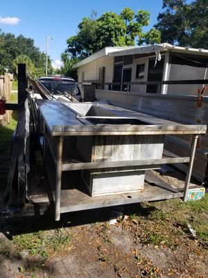 Commercial table with drop in ice well for Sale in Gulfport, FL