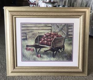Apple Cart Picture, measurements shown $10.00 Firm for Sale in Bradenton, FL