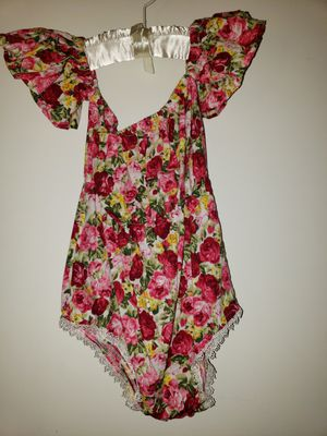 Baby Girls Romper Flower Print Ruffle Sleeve Off Shoulder For 1.5 - 3.5 yrs Size for Sale in San Diego, CA