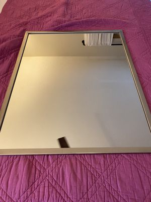 Excellent condition rectangular silver framed mirror for Sale in Sykesville, MD