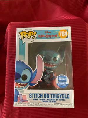 Funko Pop Stitch on Tricycle Funko Shop Exclusive In Hand for Sale in San Diego, CA