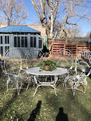 Vintage Peacock Style Chairs and table for Sale in Denver, CO