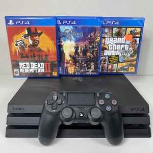 PLAYSTATION 4 PS4 PRO 1TB 3 GAMES ONE WIRELESS CONTROLLER USED SONY for Sale in Lewisville, TX