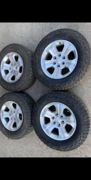 Like New Chevy z71 Rims & All Terrain Tires Factory Wheels Silverado 📞CALL(2I4)742-O77O 🔥Easy Financing Available w/ No Credit Check! Low payments fo for Sale in Dallas, TX
