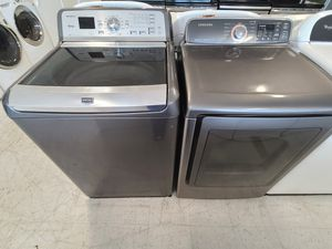 Maytag tap load washer and electric dryer mix and match set used in good condition with 90 days warranty for Sale in Frederick, MD