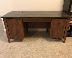 Faux Marble Executive Desk for Sale in Niederwald, TX