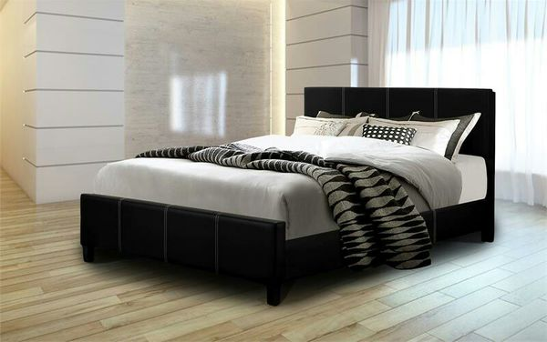 King platform bed new with mattress and box free shipping