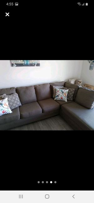 4 sectional couch with body side from Ashley Furniture for Sale in Norfolk, VA