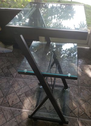 Glass Office Desk and Matching Tower for Sale in Miami, FL