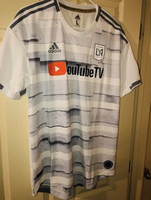 Adidas Authentic Los Angeles Football Club 2019 Jersey L White YouTubeTV for Sale in Zachary, LA