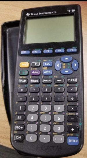 Ti 89 graphing calculator with cover and manual $50 for Sale in Canyon Country, CA