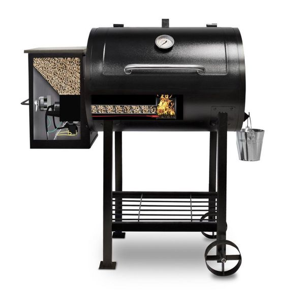 NEW - Pit Boss 700FB Wood Fired Pellet Grill with Flame Broiler, 700 Sq. In. Cooking Space