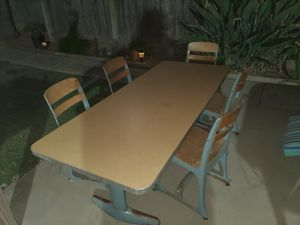 nice antique kids heavy duty school children desk table for Sale in Tracy, CA