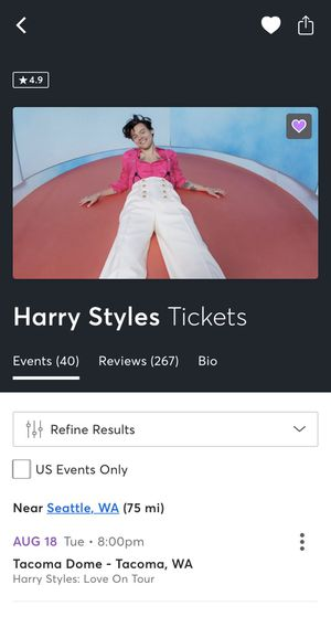 Harry Styles GA Tickets for Sale in Issaquah, WA
