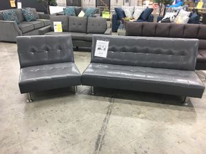 Leatherette futon sofa set for Sale in Chino Hills, CA