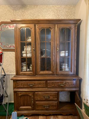****China cabinet WITH OR WITHOUT CHINA**** for Sale in Littleton, CO