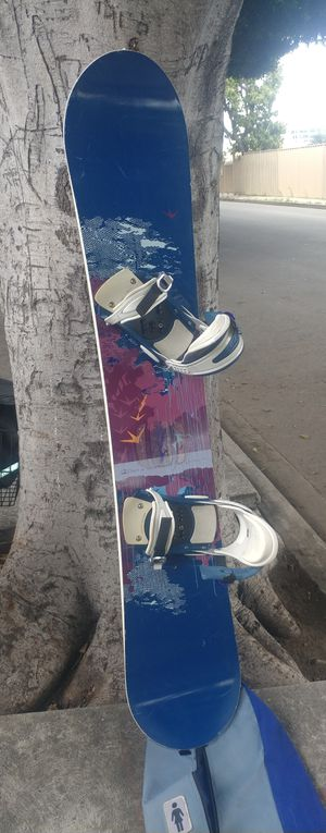 """58"""" Burton Snowboard w/ SIMS bindings and travel bag for Sale in Los Angeles, CA"""