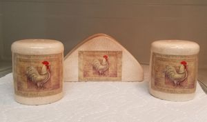 Rooster Napkin and Salt and Pepper for Sale in Stockton, CA