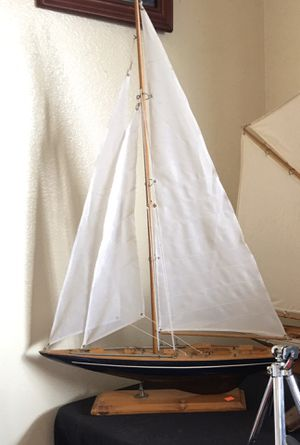 "Wooden Sailboat Model VINTAGE Nautical Decor 16"" for Sale in STEVENSON RNH, CA"