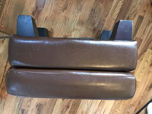 Brown leather ottoman for Sale in Nashville, TN