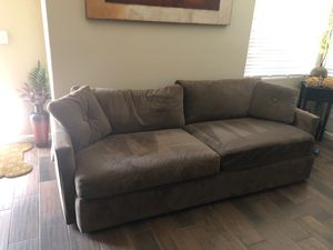 Chocolate Microfiber Couches and Chaise Lounge—Great Condition for Sale in Fresno, CA