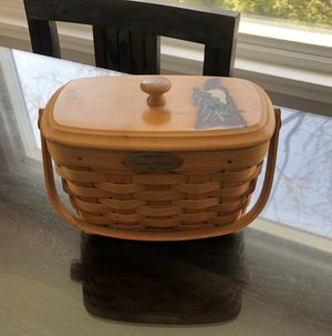 2001 Longaberger Dresden Basket, Protector and Lid for Sale in Seattle, WA