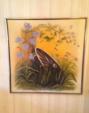 Retro Mid Century Canvas Wall Art Of Wagon Wheel for Sale in Ada, OK