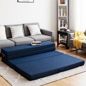 "Queen Size 4"" Quart -Fold Foam Folding Mattress Futon Sleepover Sofa Bed Guest for Sale in La Puente, CA"
