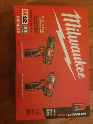 Brand new Milwaukee M12 Drill and driver combo for Sale in Baltimore, MD
