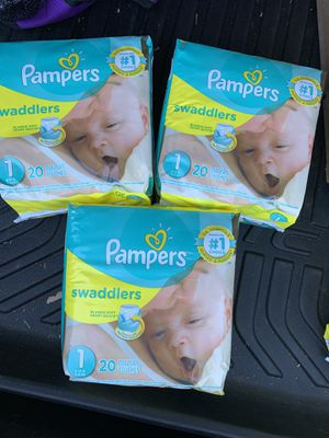 Pampers size 1 diapers new 3 bags for $10 for Sale in Temple City, CA