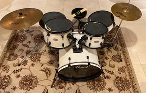 Used pearl drum set with accessories (open to negotiation) for Sale in Long Beach, CA